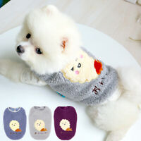 Cute Pet Coat Warm Dog Fleece Vest Warm Puppy Apparel Jacket Blue Gray Purple