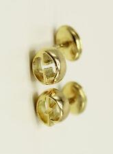 cf7be869520 Designer Gucci 18K Yellow Gold Double G Pierced Stud Earrrings