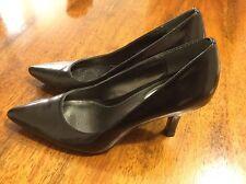 ALFANI Women's GRACIE Classic Leather Black Heels Pumps Pointed Toe Size 7.5M