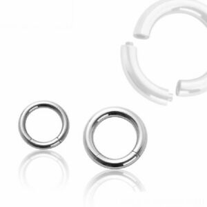 Piercing Segmentring Stahl Nasenpiercing Bauch Lippe Labret Ring Universal Ohr