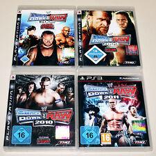 4 PS3 SPIELE BUNDLE - SMACKDOWN VS RAW 2008 2009 2010 2011 - WRESTLING ECW