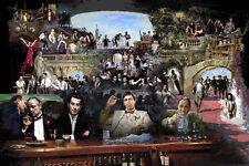 Al Pacino GODFATHER,RAT PACK,James Gandolfini,STAR WARS, Giclee on canvas byStar