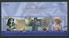 NEW ZEALAND 2000 QUEEN MOTHER MINIATURE SHEET FINE USED