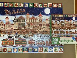 """Springbok 400pc Christmas Family  Puzzle """"AND TO ALL A GOOD NIGHT"""" Complete"""