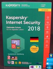 Kaspersky Internet Security 2018 Upgrade 1 Gerät PC/Mac/Android + Anleitung NEU