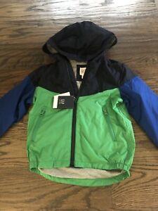 NWT Gap Kids boy blue green colorblock windbreaker SPRING jacket XS S M L XL XXL