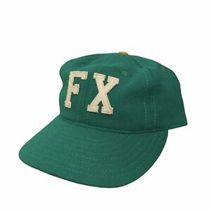 """Vintage Ebbets Field Flannels Green Wool Fitted 7 5/8 """"FX"""" hat Made In USA"""