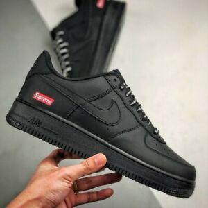 Nike Air Force 1 Supreme Black UK 9 AF1