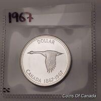 1967 Canada Silver $1 Dollar UNCIRCULATED Coin 1867-1967 Goose! #coinsofcanada