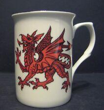Funny Novelty WELSH DRAGON Fine Bone China Mug Beaker Cup