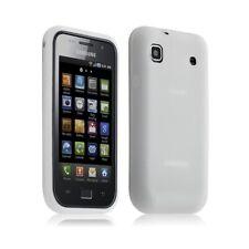 Housse etui coque en silicone pour Samsung Galaxy S i9000 couleur blanc