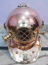 """Antique Solid Copper & Brass Diving Divers Helmet U.S Navy Mark V 18 """""""