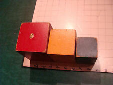 Vintage toy: RED YELLOW BLUE--HOLGATE Wood blocks/ noise makers, very cool
