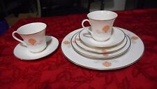 Viletta Palm Beach Fine China Dinnerware 7pc set