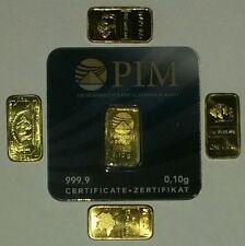 ⚫LOTTO 5 LINGOTTI - ORO MASSICCIO 24 KT !!!          ok paypal!