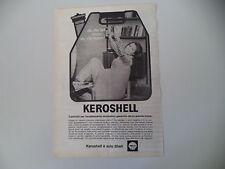 advertising Pubblicità 1966 KEROSHELL KERO SHELL