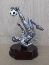 """male biker kicker SOCCER statue trophy  resin 8"""" tall RFG937"""