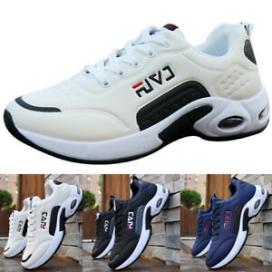 MENS SHOES CASUAL LACE RUNNING TRAINERS GymSPORT PUMPS SPORTS BREATHABLE UP MESH