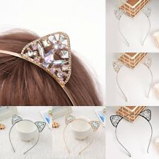Bling Diamond Alloy Cute Cat Ears Headband head hoop Costume Cosplay Fancy Party