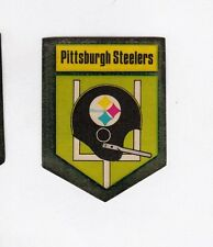 ORIGINAL PITTSBURGH STEELERS 1 BAR HELMET DECAL STICKER from SEALED 1974 PACKAGE