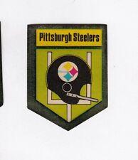 ORIGINAL PITTSBURGH STEELERS 1 BAR HELMET DECAL STICKER from SEALED 1974 PACKAGE