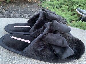 New Victorias Secret Slippers House Shoes Size M (38/39)black ECU