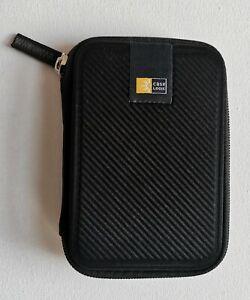 Case Logic Compact Portable Small Hard Drive Case - Black, 100% Genuine