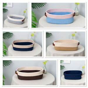 Woven Cotton Rope Basket Small Bathroom Bedroom Natural Children's Toy Storage