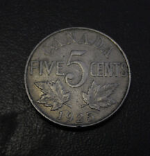 Canada 5 cents 1925 Fine