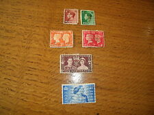 King Edward Viii Def. Stamps, King George Vi Coronation, Centenary And Wedding