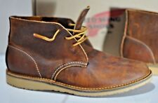 3d819b7eec9 Red Wing Shoes Leather Weekend Chukka boot copper size 9.5 D Factory Second  USA