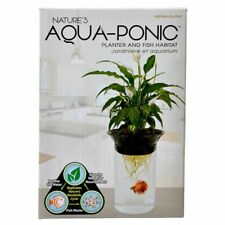Penn Plax Nature's Aqua-Ponic Planter/Betta Fish Habitat 0.5 Gallon NEW