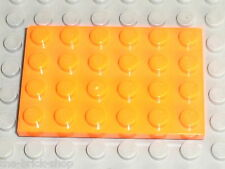 Plaque plate orange LEGO star wars 4x6 ref 3032 / Set 7171 3827 7991 6739 7586