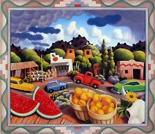 "Stephen Morath ""Afternoon Monsoon"" (N.M. town) open edition poster, 24x29 image"