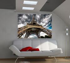 "France. Eiffel Tower Huge Art Giant Poster Wall Print 39""x57"" d517"