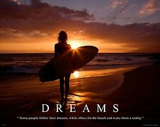 Surfing Motivational Poster Art Used Surfboard Women's Wet Suit Shorts MVP194