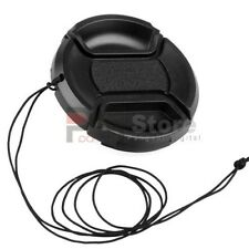 52mm Front Lens Cap Hood Cover Snap-on with cord for Nikon Canon Pentax Sony