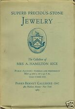 PARKE BERNET SUPERB PRECIOUS-STONE JEWELRY Rice Coll 65