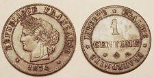 1 Centime Cérès 1874 A Paris, SUP !!