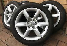 "Genuine AUDI 17"" A5 A4 A6 Alloy Wheels Rims PIRELLI 245 45 18 Tyres"