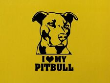 Amo la mia PITBULL dog Wall Art Home Adesivo Decalcomania ANIMALI PET VINILE DECOR