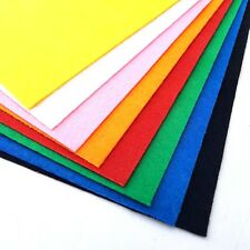 A4 Coloured Felt Pack 8 Sheets Assorted Multi Colours Childrens Kids Art Craft