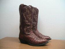 Mens 9 EE Tony Lama Brown Exotic Crocodile Tail Cut Western Cowboy Boots