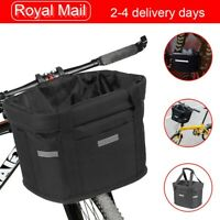 Bicycle Front Waterproof Foldable Bike Handlebar Basket Pet Carrier Frame Bag