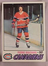 1977 Topps Pierre Bouchard Montreal Canadiens #20 Hockey Card ex