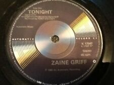"""Zaine Griff: Tonight / This could mean everything  7"""" Vinyl  . UNUSED NEAR MINT"""
