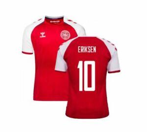 2020 2021 Denmark Soccer Home Jersey Christian Eriksen #10