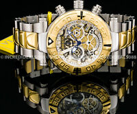 Invicta Men Subaqua Noma I Skeleton Swiss Chronograph Two Tone Gold Silver Watch