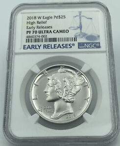 2018 W $25 Palladium Eagle High Relief Early Releases NGC PF70 Ultra Cameo