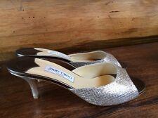 NIB Jimmy Choo Sandals Glitter gold silver sz 41 US 10